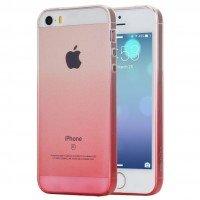 Чехол NIL для iPhone 5/5S/SE Change Color TPU Pink