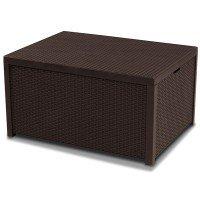 Стол-сундук Allibert Arica storage table Brown