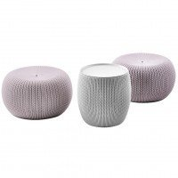 Садовая мебель Keter Urban Knit Set Cloudy Grey puffs/Violet table