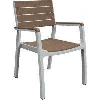 Кресло Keter Harmony armchair White/Cappuccino