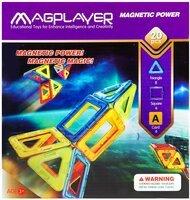 Конструктор Magplayer магнитный набор 20 эл. MPA-20