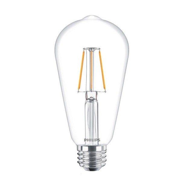Купить Лампа светодиодная декоративная Philips LED Fila ND E27 4-50W 2700K 230V ST64 CL