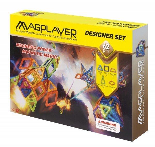 Купить Конструктор Magplayer магнитный набор 62 эл. MPB-62