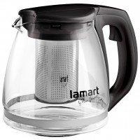 Чайник Lamart заварювальний скляний з чорними вставками 1,1 л (LT7025)
