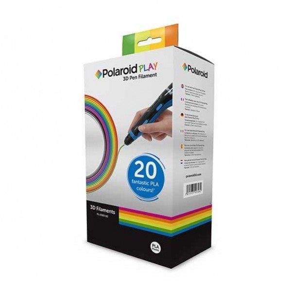 Купить Набор нити для ручки 3D Polaroid 1.75мм PLA PLAY (20 цветов)