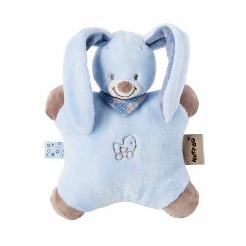 Купить Мягкие игрушки, Мягкая игрушка Nattou подушка кролик Бибу 24 см (321082)