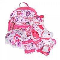 Раздвижные роликовые коньки Tempish Flower Baby skate (р.30-33) розовые (1000000007/30-33)