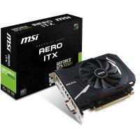 Відеокарта MSI GeForce GTX 1050TI 4GB DDR5 Aero ITX OC (GF_GTX_1050_Ti_AERO_ITX4)