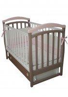 Детская кроватка VERES Соня ЛД-6 капучино-розовый (маятник с ящиком) (6.12)