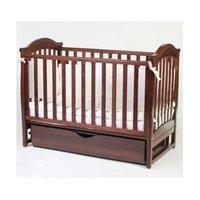 Детская кроватка VERES Соня ЛД-3 орех (маятник с ящиком, декор) (03.1.03)