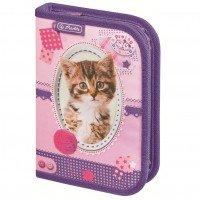 Пенал із наповненням 19 предметів Herlitz Pretty Pets Cat (8229270C)
