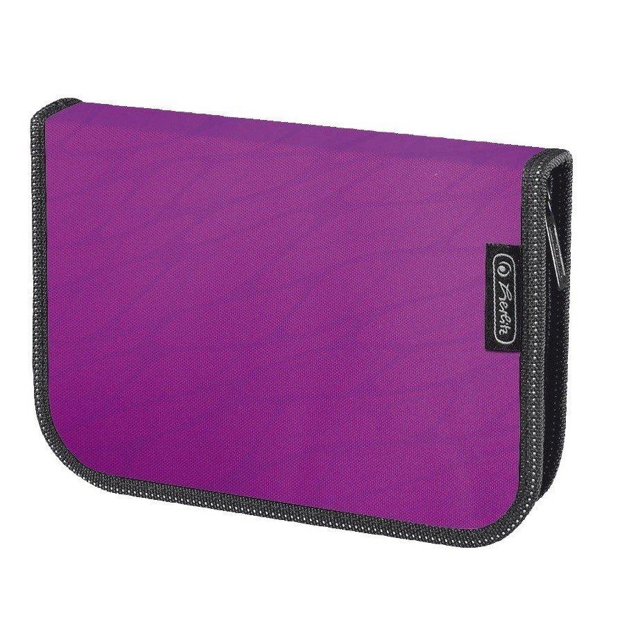Пенал із наповненням 19 предметів Herlitz Wild Print пурпурний (10432037P)фото
