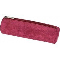 Пенал-косметичка Herlitz Round Leather замшевый розовый(8200883R)