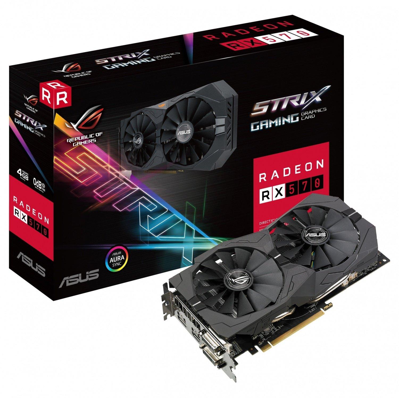 Видеокарта ASUS Radeon RX 570 ROG Strix 4GB GDDR5 (STRIX-RX570-4G-GAMING) фото 1