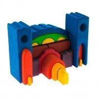 Конструктор деревянный Nic Все в замке синий (NIC523268)
