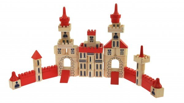 Купить Конструктор деревянный goki Замок 150 деталей (WB505)