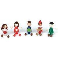 Подсвечник праздничный Nic деревянный Набор кукол (NIC522910)