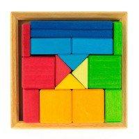 Конструктор деревянный Nic Разноцветный квадрат (NIC523343)
