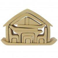 Конструктор деревянный Nic Все в доме натуральный (NIC523264)