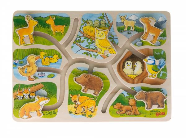 Купить Пазл-головоломка goki Животные (57749)