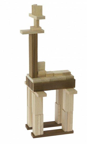 Купить Конструктор деревянный goki Строительные блоки II (58532)