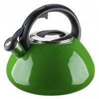 Эмалированный чайник со свистком GRANCHIO Colorito Verde зеленый 2,8 л 88626