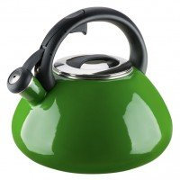 Емальований чайник зі свистком GRANCHIO Colorito Verde зелений 2,8 л 88626