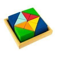 Конструктор деревянный Nic Разноцветный треугольник (NIC523345)