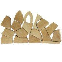Конструктор деревянный Nic маленький натуральный 17 деталей (NIC523284)