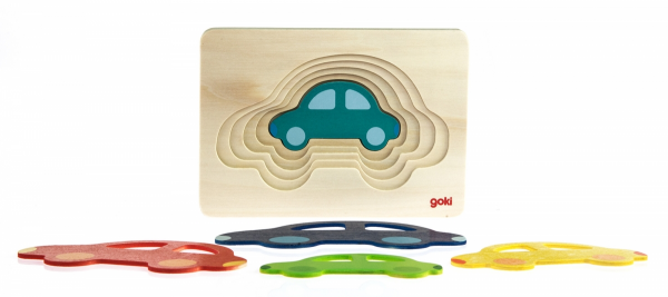 Купить Головоломка goki Разноцветные машинки (57485)