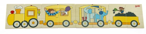 Купить Пазл goki Цветной паровоз (56945)