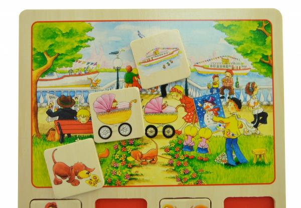 Купить Настольная игра goki Лото Наш маленький город (56740)
