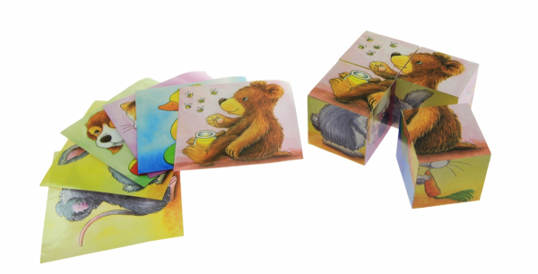 Купить Кубики деревянные goki Зверюшки (57056)