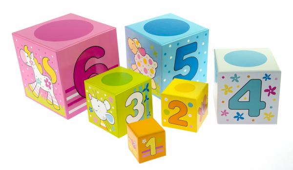 Купить Кубики картонные goki Учимся считать (58508)