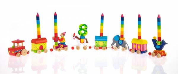 Купить Игровой набор-подставка для свечей goki Паровоз-Цирк (60919)