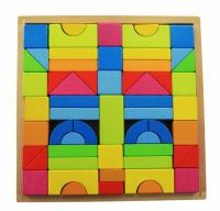 Конструктор деревянный goki Радуга 57 деталей (58624)
