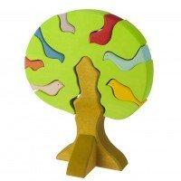 Конструктор деревянный Nic Дерево с птицами светлое (NIC523097)