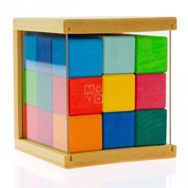 Купить Конструктор деревянный Nic Кубики 27 деталей (NIC523303)