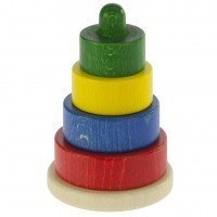 Пирамидка деревянная Nic этажная разноцветная (NIC2312)