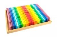 Конструктор деревянный Nic Строительные пластины 64 детали (NIC523302)