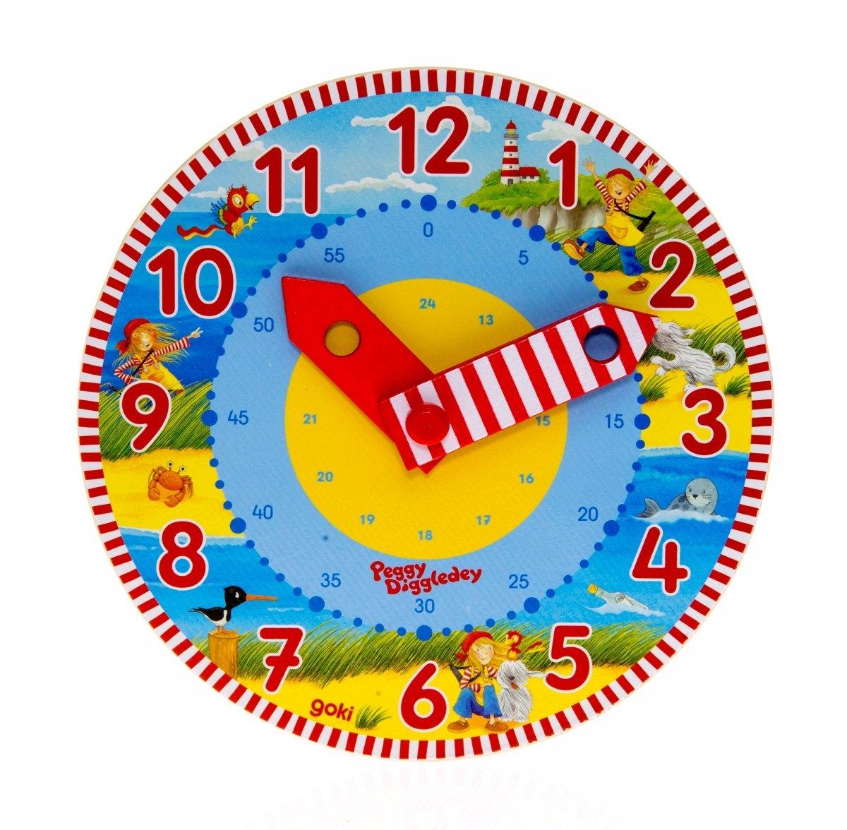 Развивающая игрушка goki Часы Изучаем время (58526) фото