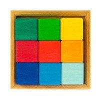 Конструктор деревянный Nic Разноцветный кубик (NIC523348)