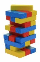 Настольная игра goki Дженга Разноцветная башня (HS973)