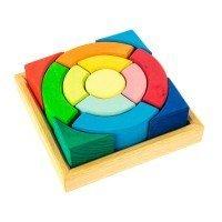 Конструктор деревянный Nic Разноцветный круг (NIC523344)