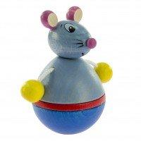 Игрушка-неваляшка деревянная Nic Мышка (NIC61552)