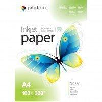 Бумага PrintPro глянц. 200г/м, A4 PG200-100 (PGE200100A4)