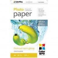Бумага ColorWay сатин, полуглянц. 255г/м, LT PNG255-20 кар.уп. (PNG255020LT)