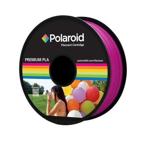 Купить Катушка с нитью Polaroid 1.75мм/1кг PLA для 3D принтера Пурпурно-Красный