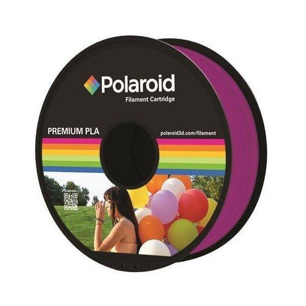 Купить Катушка с нитью Polaroid 1.75мм/1кг PLA для 3D принтера Прозрачный Пурпурный