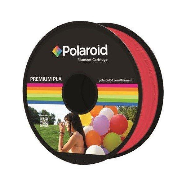 Купить Катушка с нитью Polaroid 1.75мм/1кг PLA для 3D принтера Прозрачный Красный